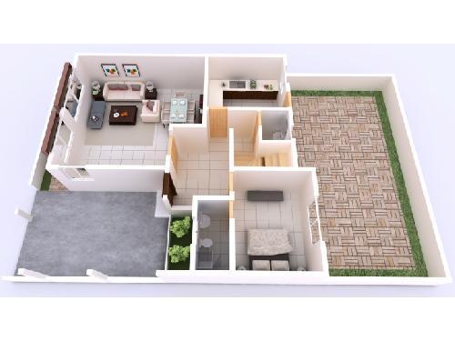 Immobilier au s n gal villa appartement maison for Plan maison type f4